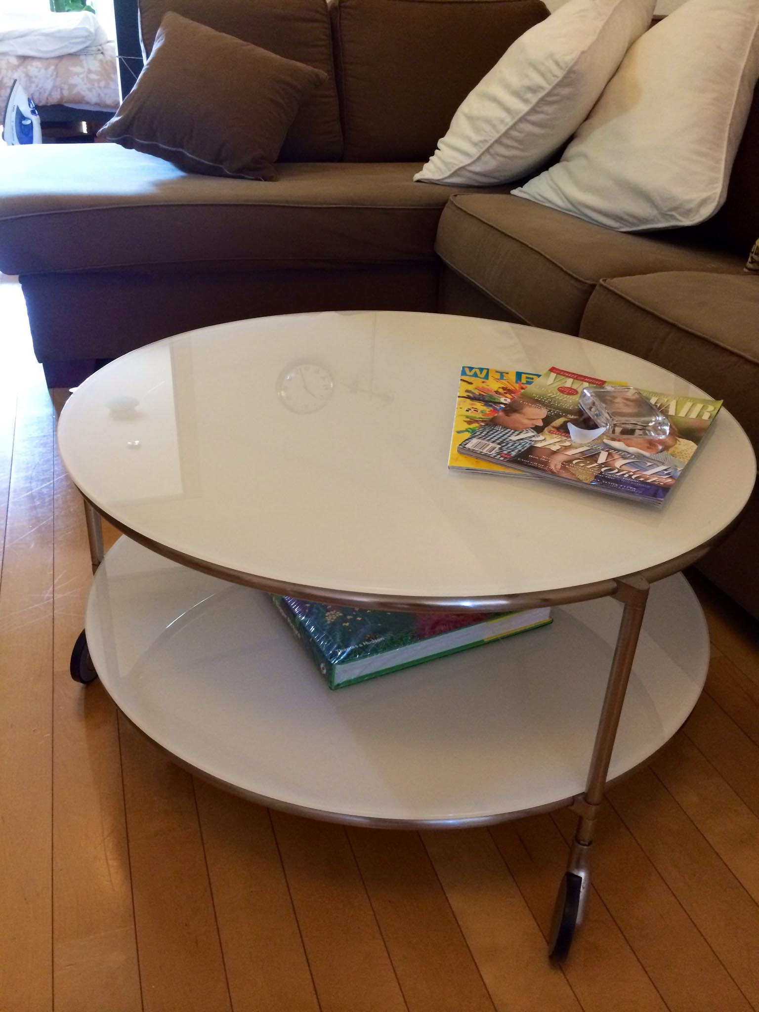 Glass Coffee Table With Wheels Caster Coffee Table Round Coffee Table On Wheels Coffee Table