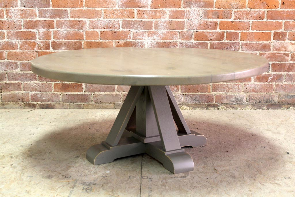 Round Coffee Table with Pedestal Base