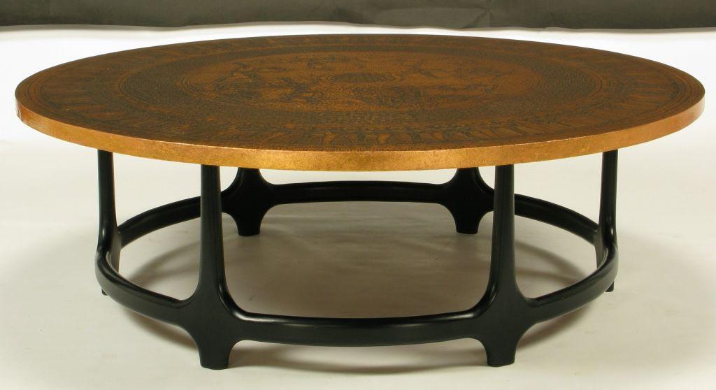 Round Copper Coffee Table Coffee Table Design Ideas