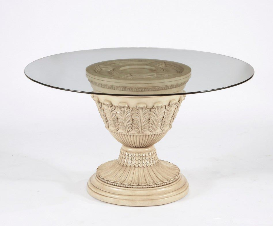 Round Glass Pedestal Coffee Table