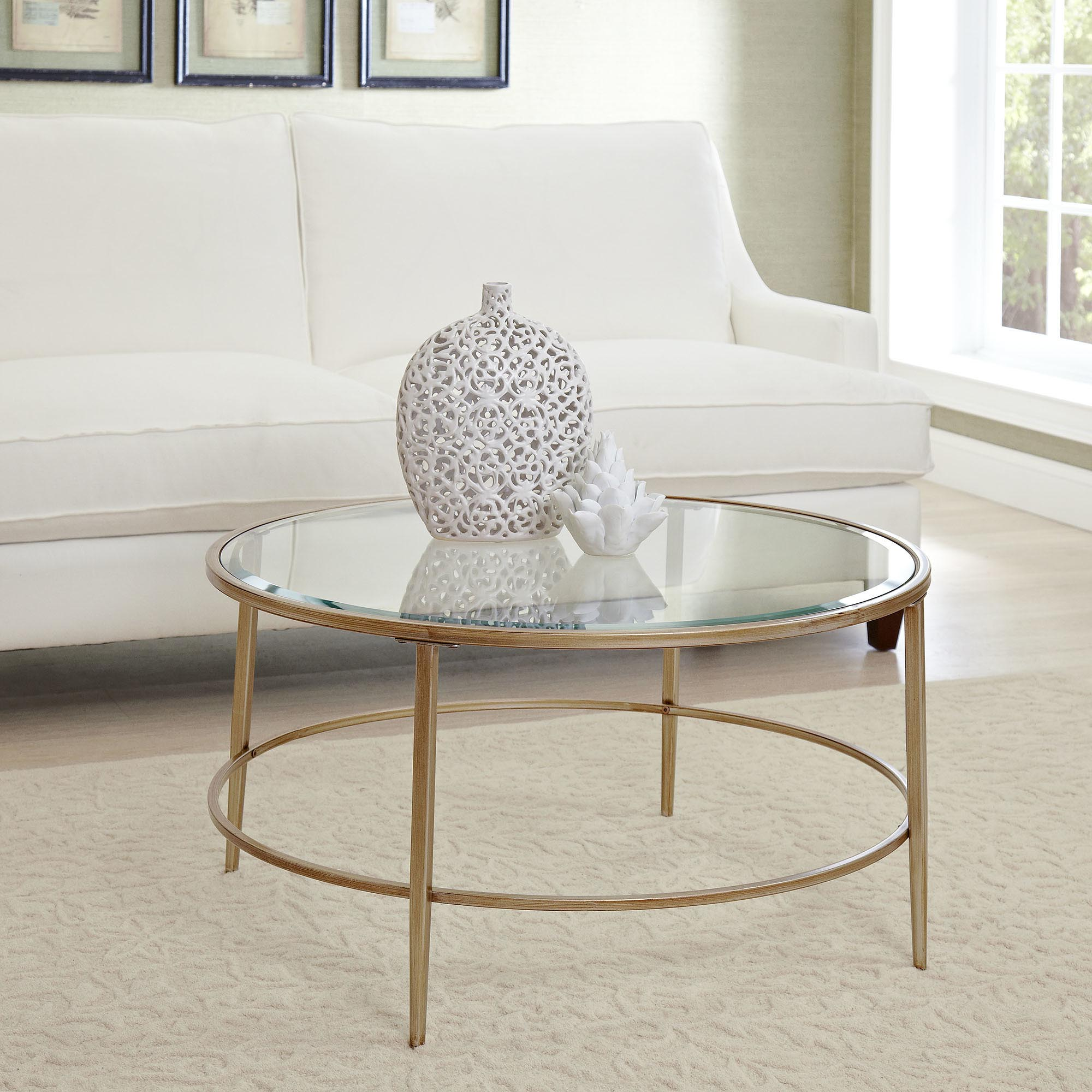 Round Gold Coffee Table