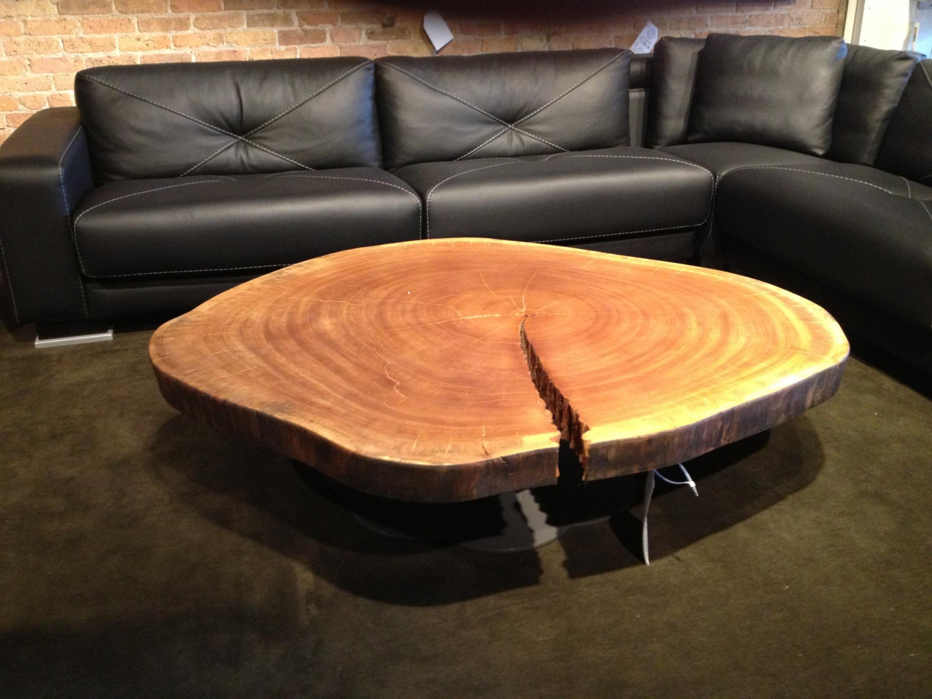Round Log Coffee Table