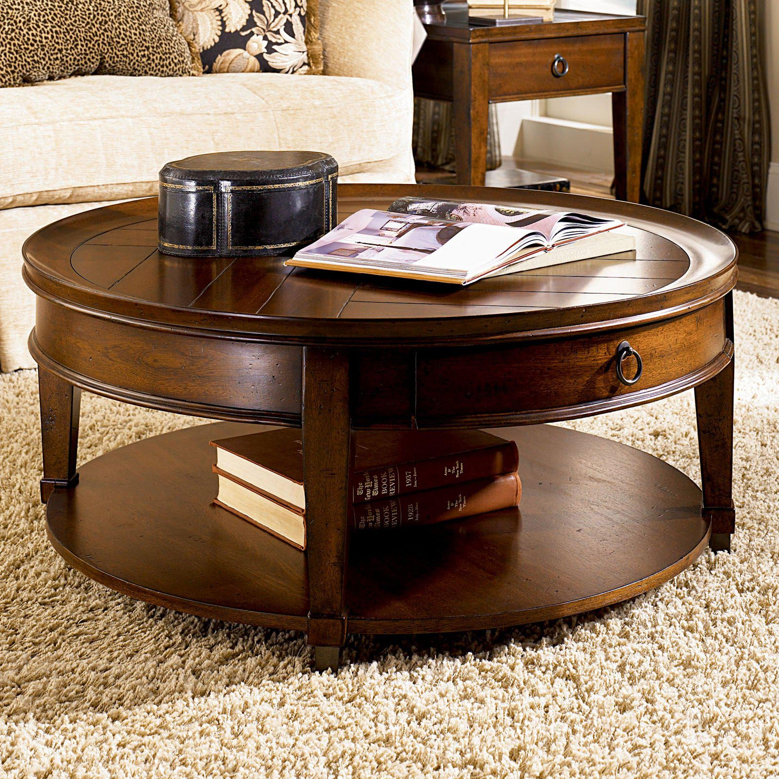 Round mahogany coffee table coffee table design ideas for Black wood coffee table and end tables