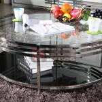 Round Mirrored Coffee Table