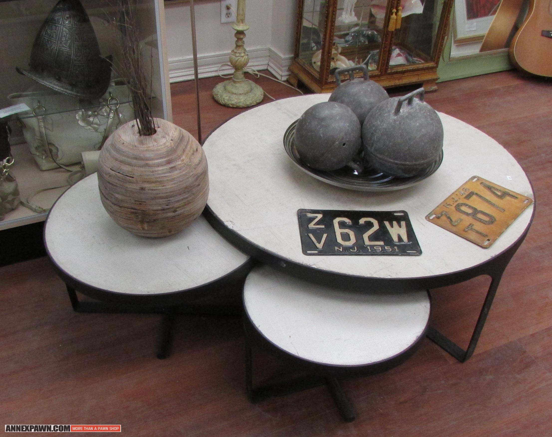 Round nesting coffee table coffee table design ideas for Round stacking coffee table