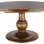 Round Oak Pedestal Coffee Table