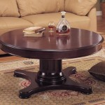 Round Pedestal Coffee Table Antique