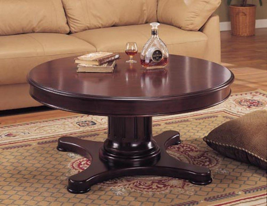 Coffee table design ideas best coffee table ideas for Perfect round pedestal coffee table ideas