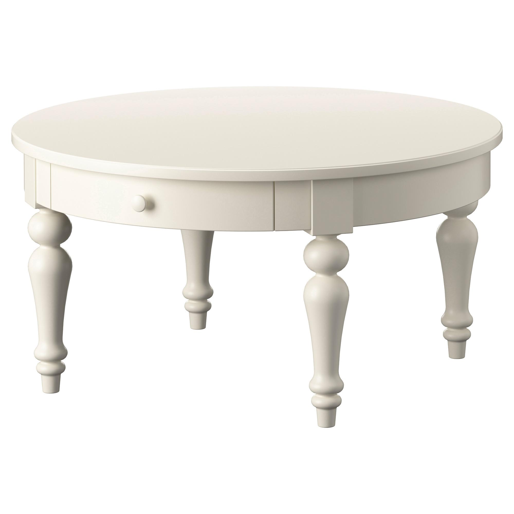 Round White Coffee Table