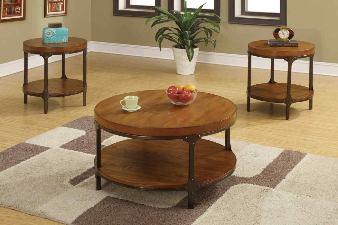 Round Wood Coffee Tables