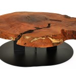 Round Wood Slab Coffee Table