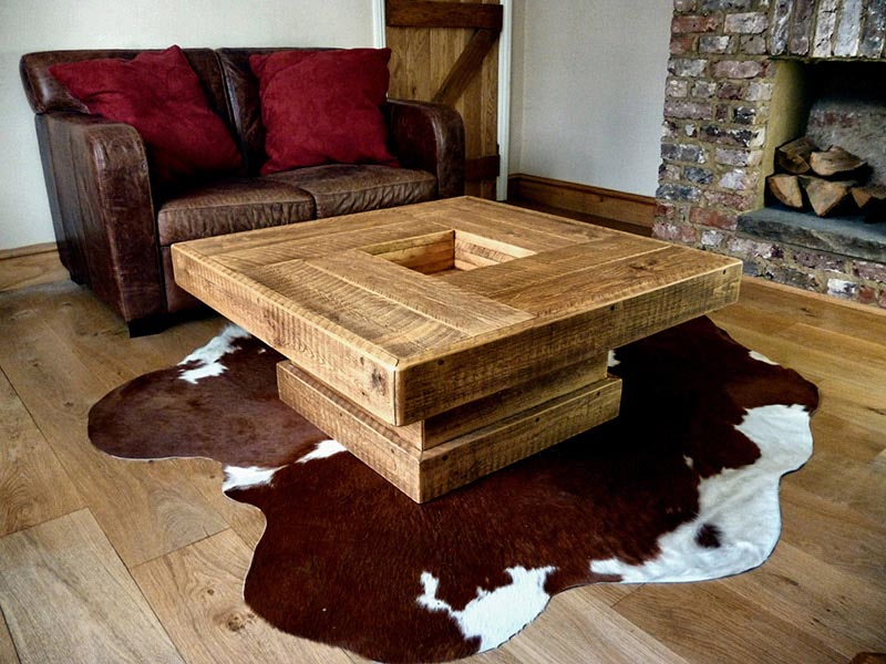 Rustic Log Coffee Table Design Ideas