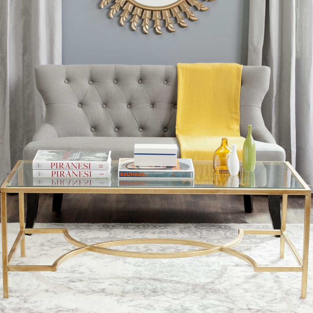 Safavieh Inga Gold Coffee Table