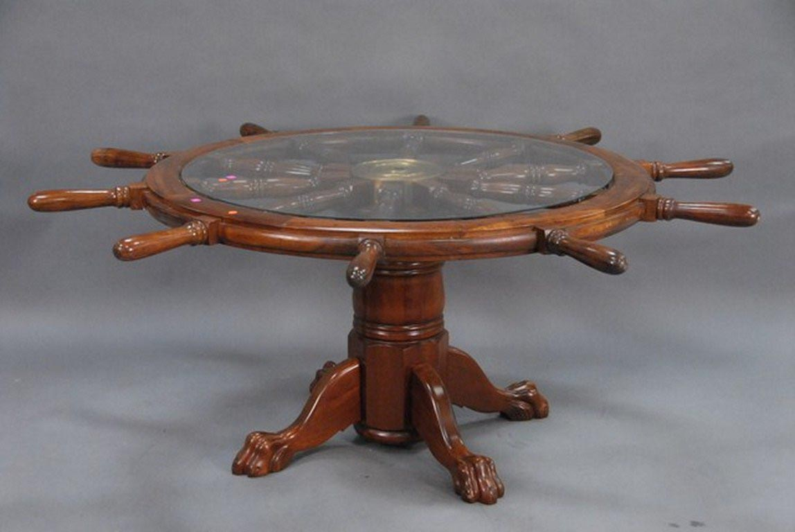 Ship Wheel Coffee Table