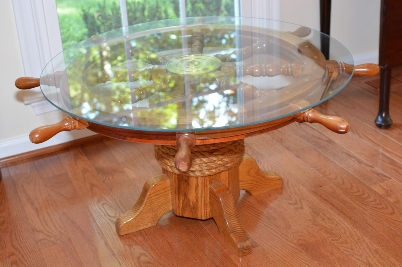 Ships Wheel Coffee Table Coffee Table Design Ideas