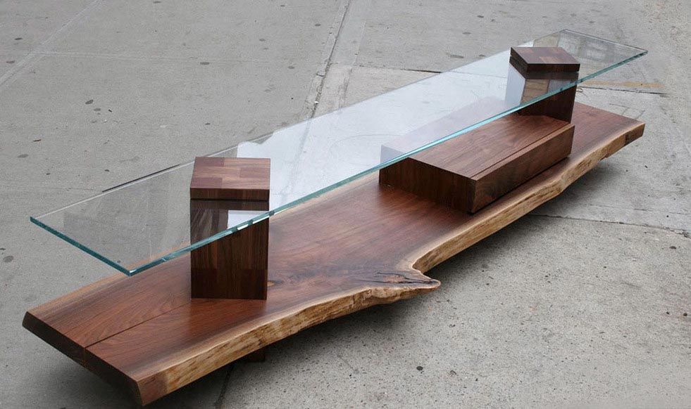 Superb Skinny Glass Coffee Table