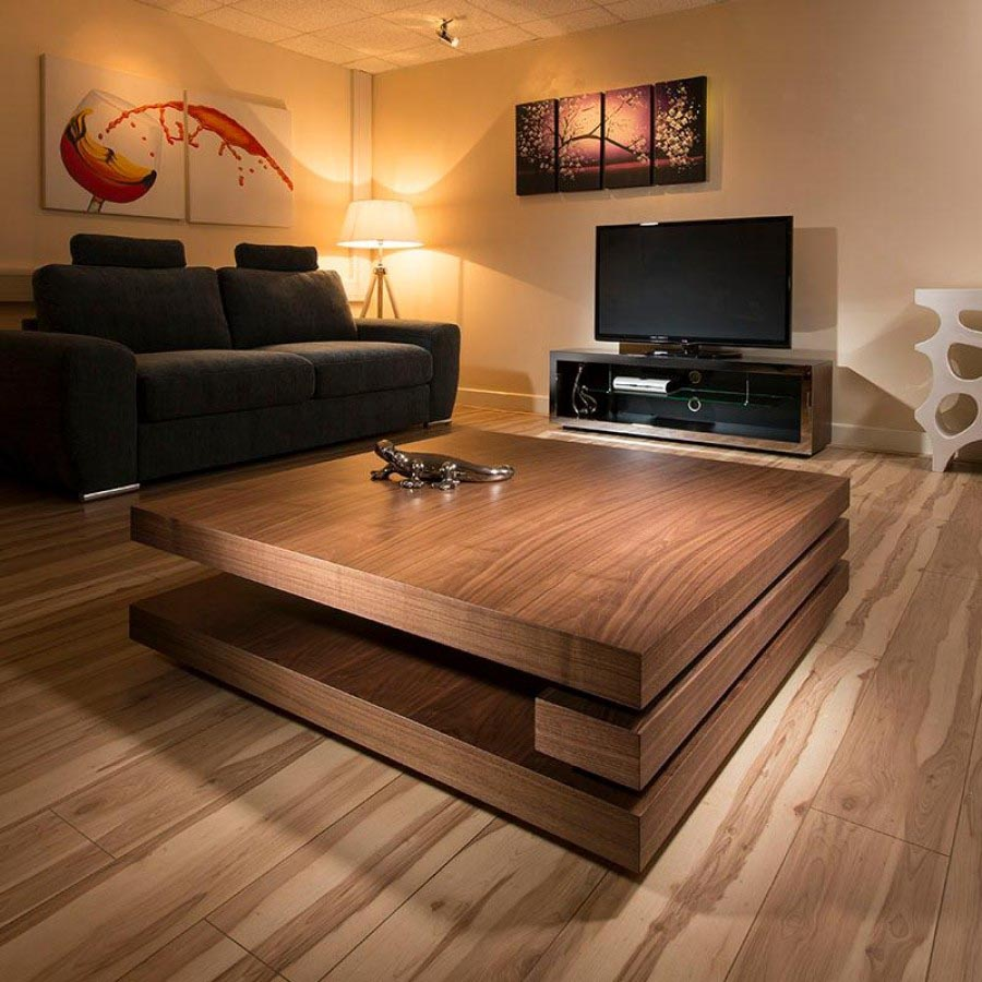 Square low coffee table coffee table design ideas for Large low coffee table