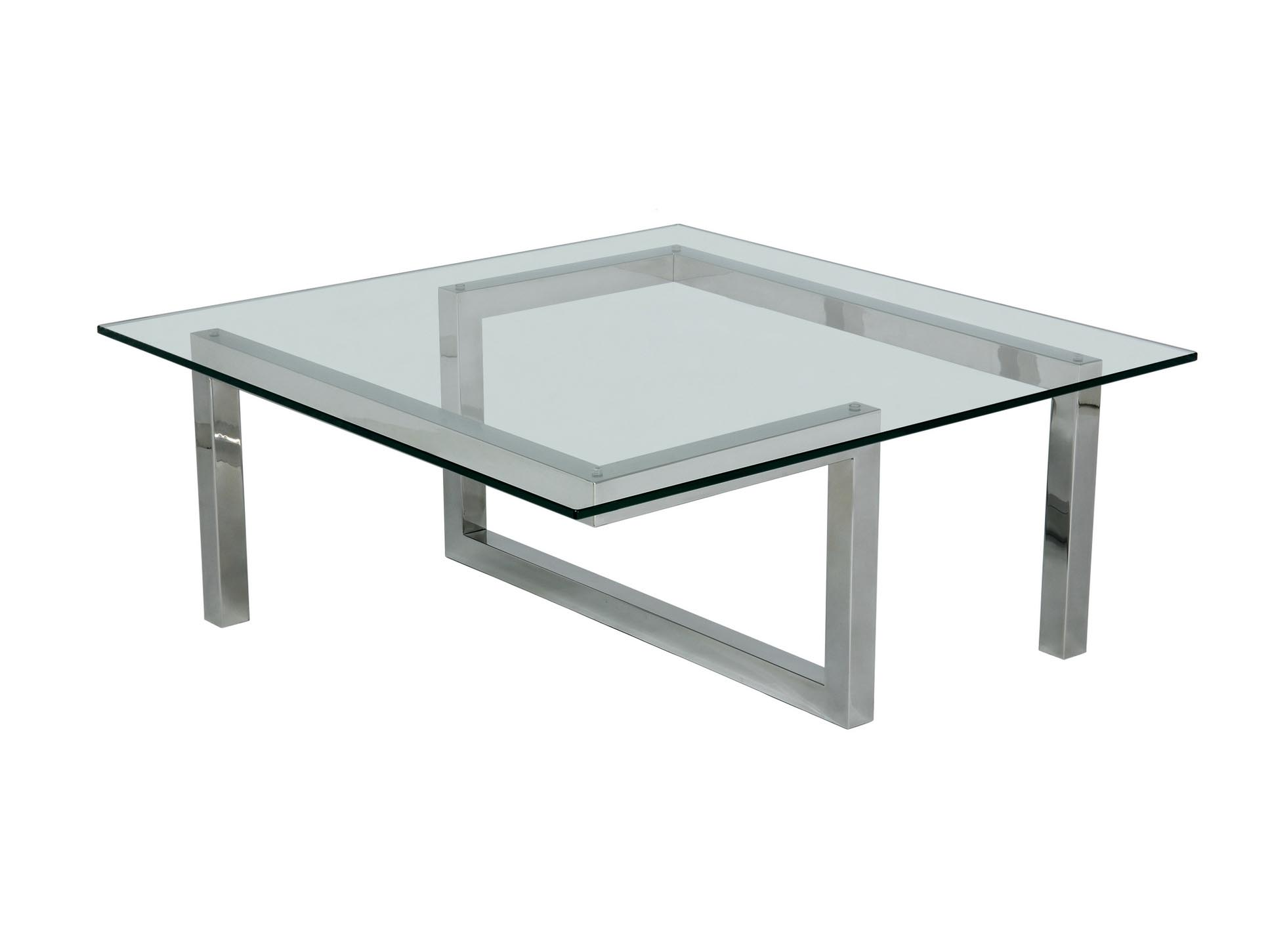 Stainless steel and glass coffee tables coffee table design ideas Metal glass top coffee table