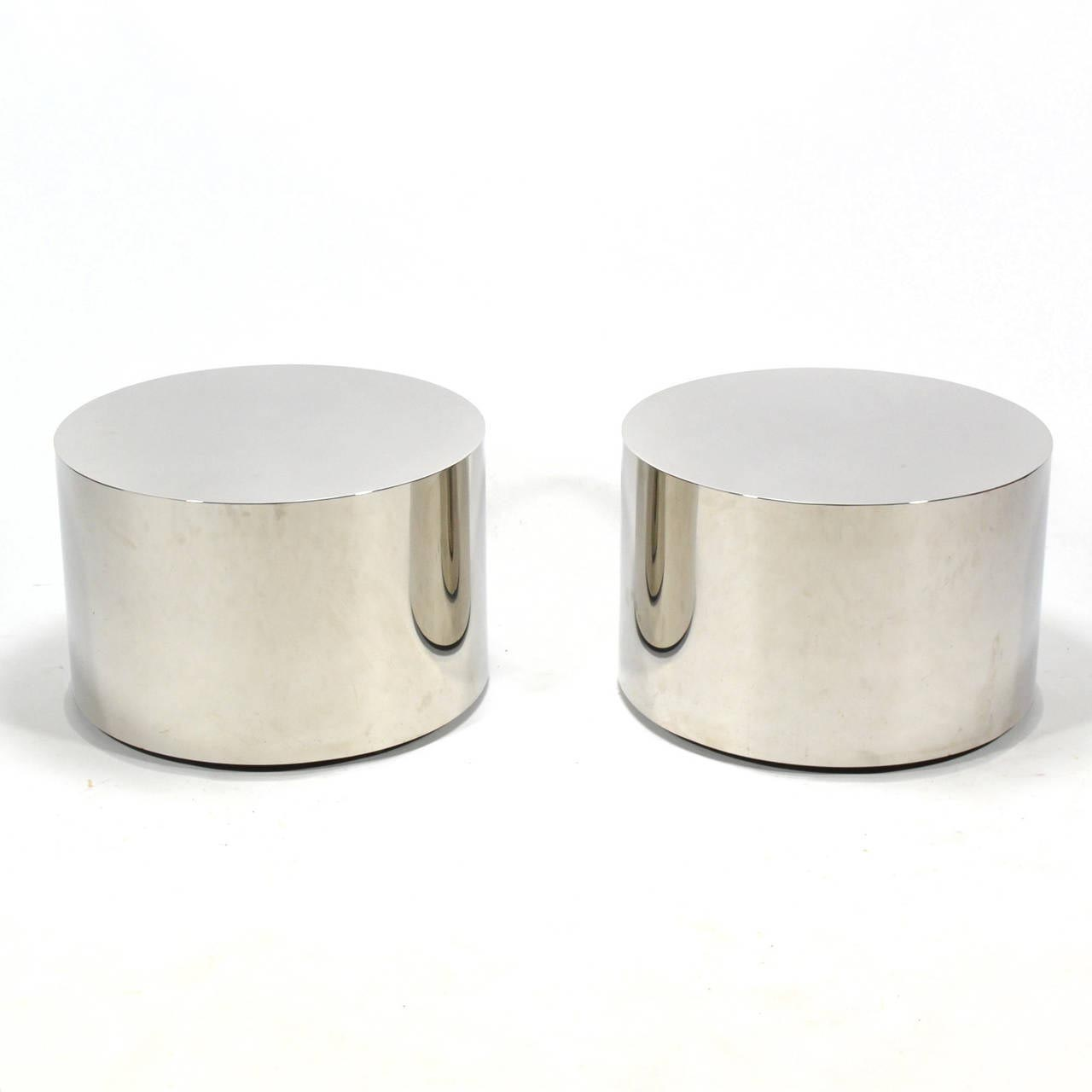 Stainless Steel Drum Coffee Table