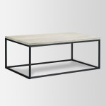 Steel Frame Coffee Table