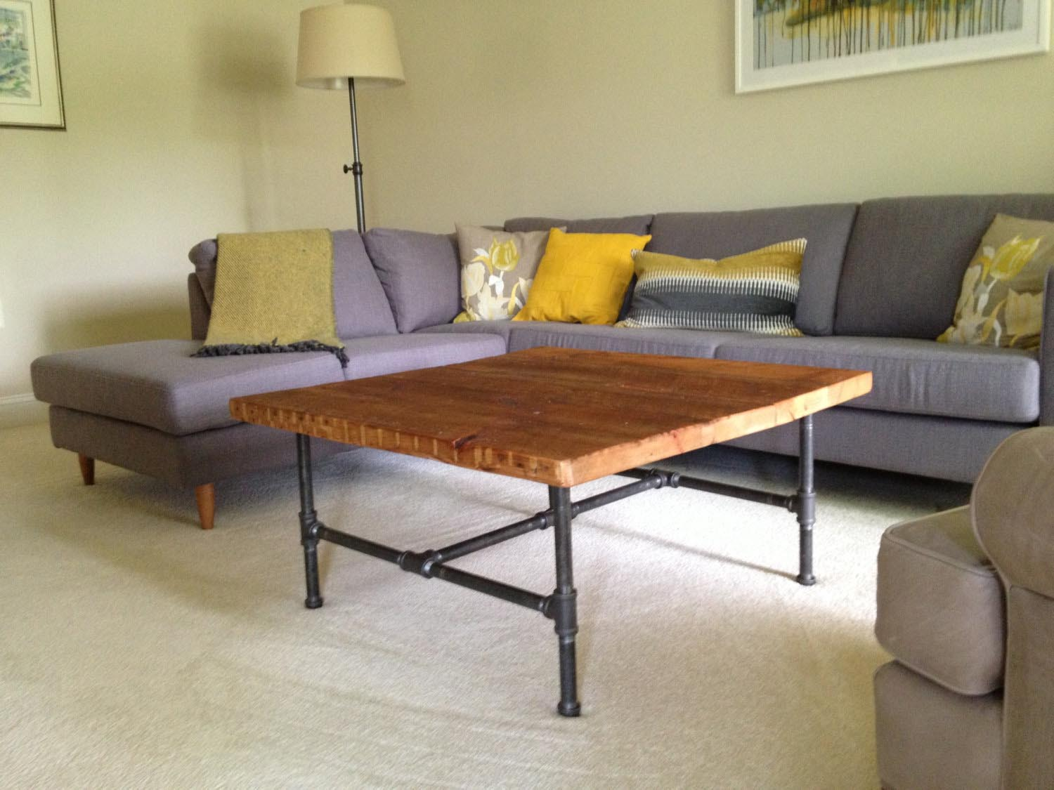 Steel Leg Coffee Table