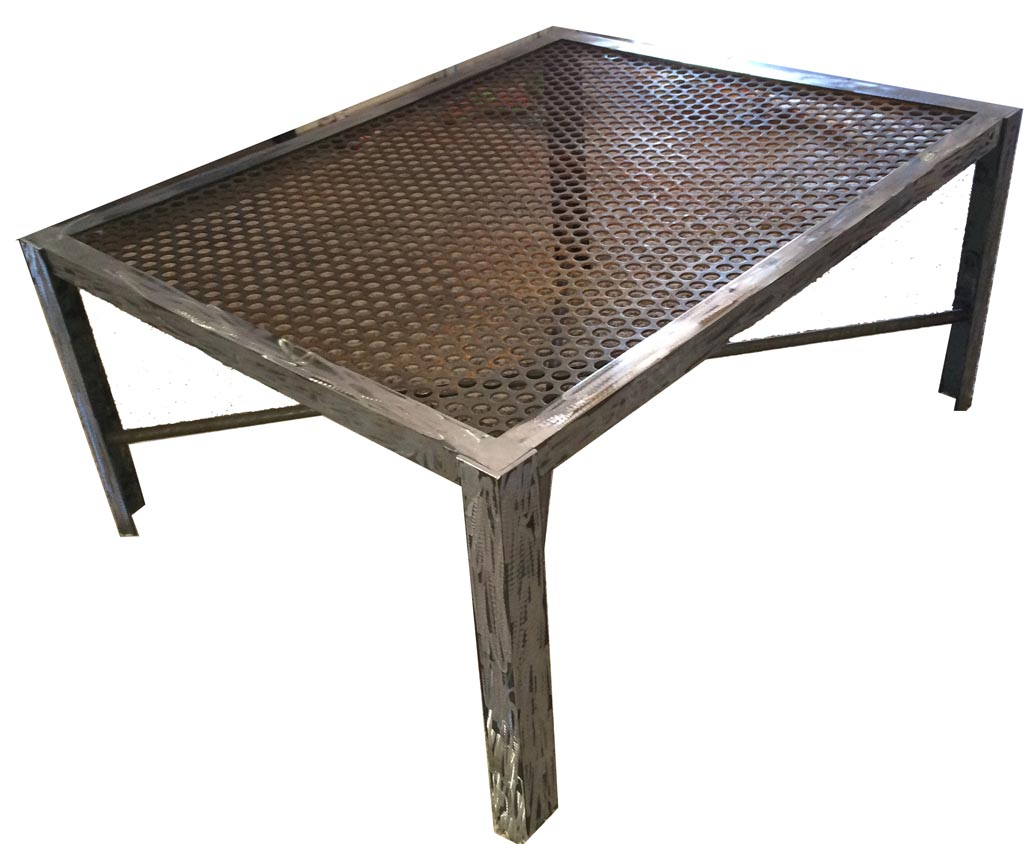 Steel Top Coffee Table