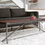 Steel Wood Coffee Table