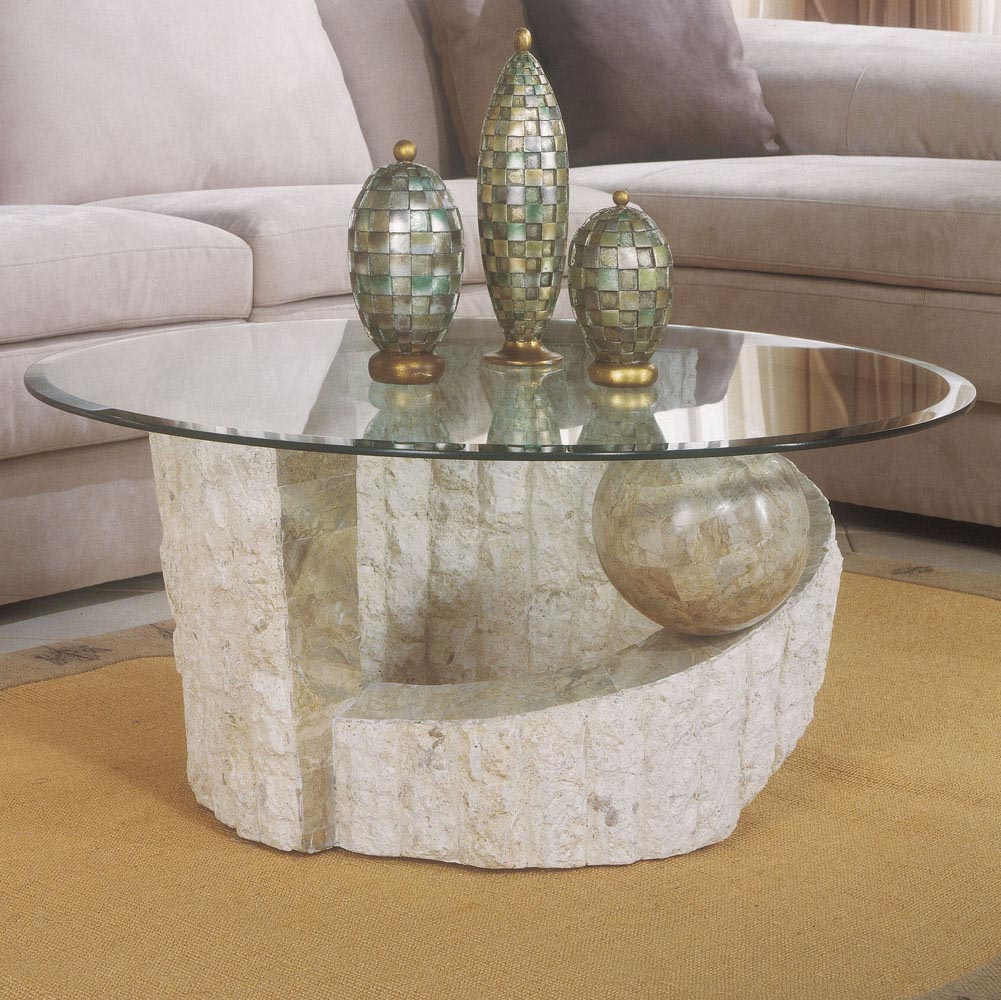 Stone pedestal coffee tables coffee table design ideas Stone coffee table top