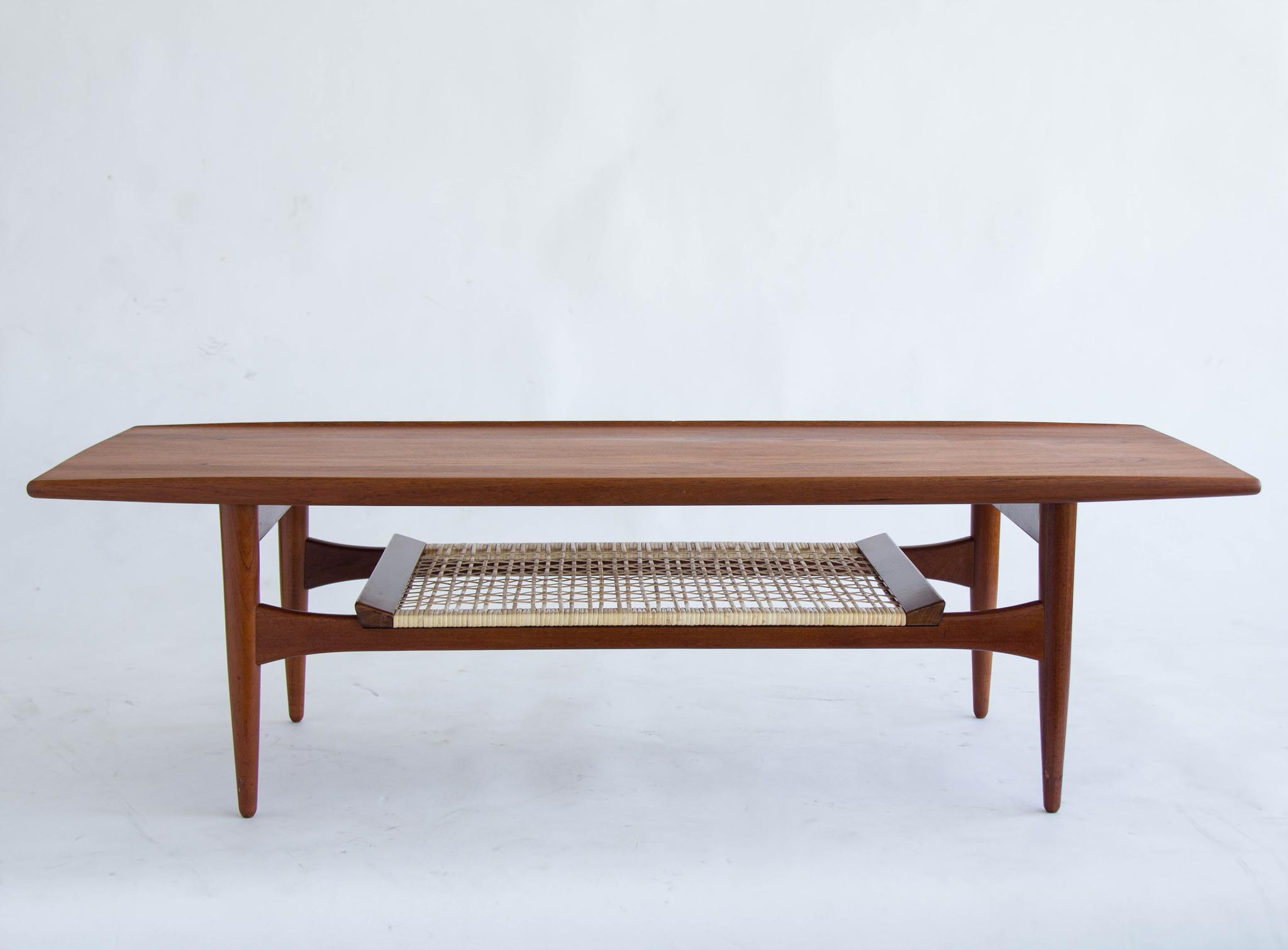 Teak Coffee Table with Shelf