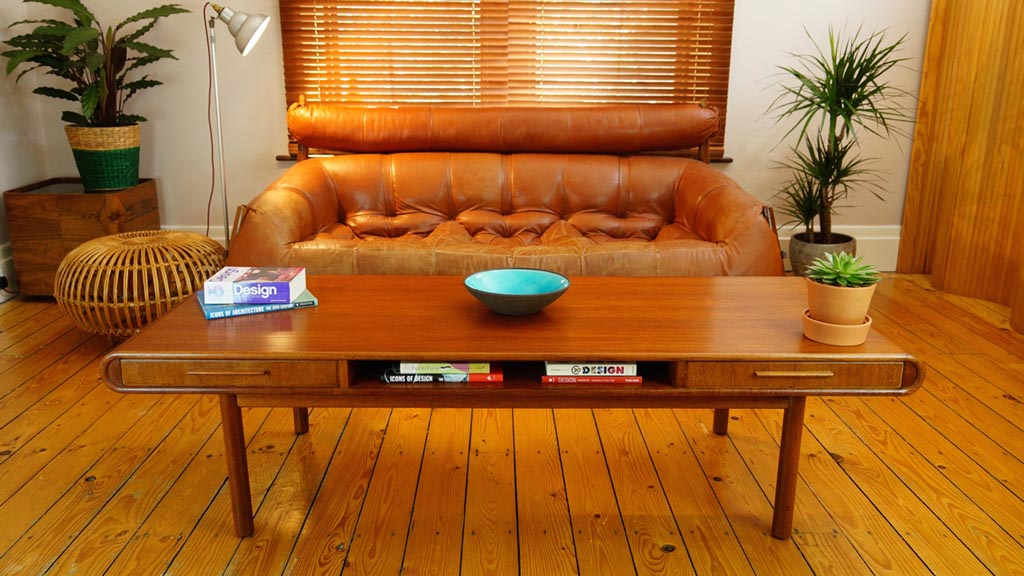 Teak Coffee Table with Storage