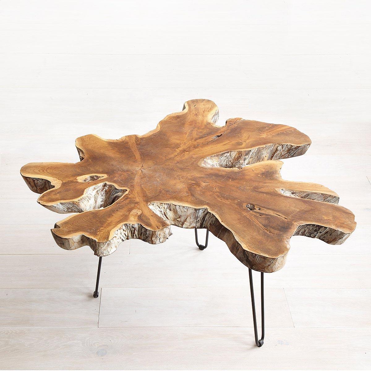 Oak Root Coffee Table: Coffee Table Design Ideas