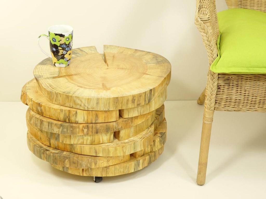 Teak Wood Slab Coffee Table