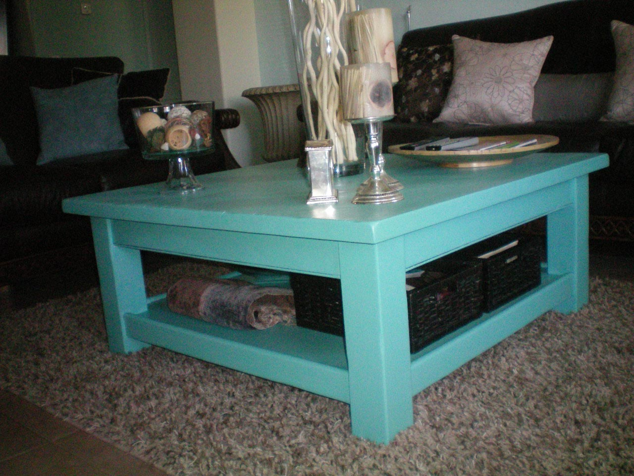 Tiffany Blue Coffee Table