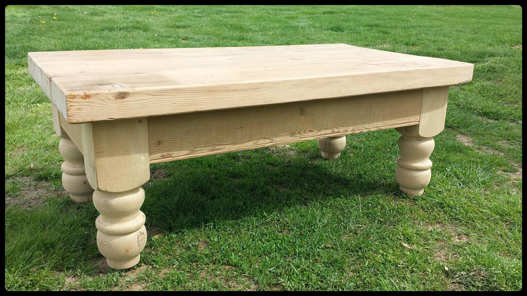 Unfinished Pine Coffee Table