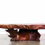 Vintage Wood Slab Coffee Table