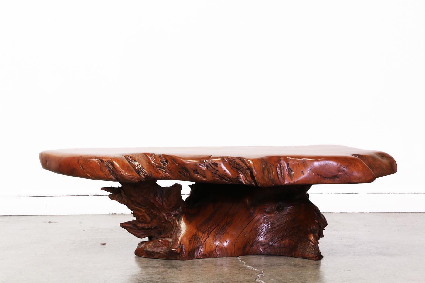 Vintage Wood Slab Coffee Table