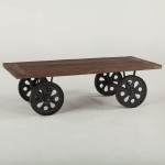 Wheel Cart Coffee Table