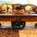 Wheeled Cart Coffee Table