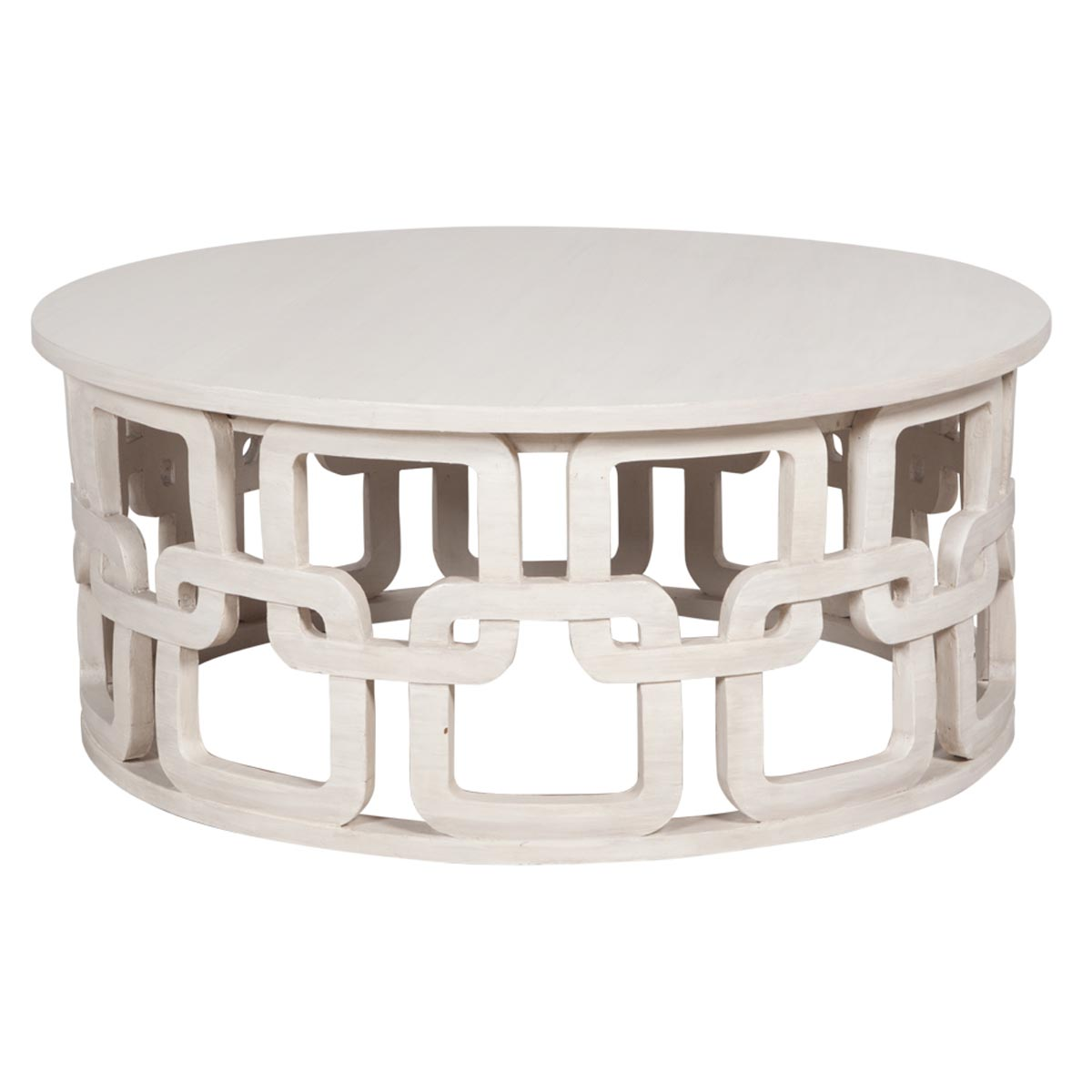 White Circle Coffee Table