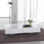 White Low Coffee Table