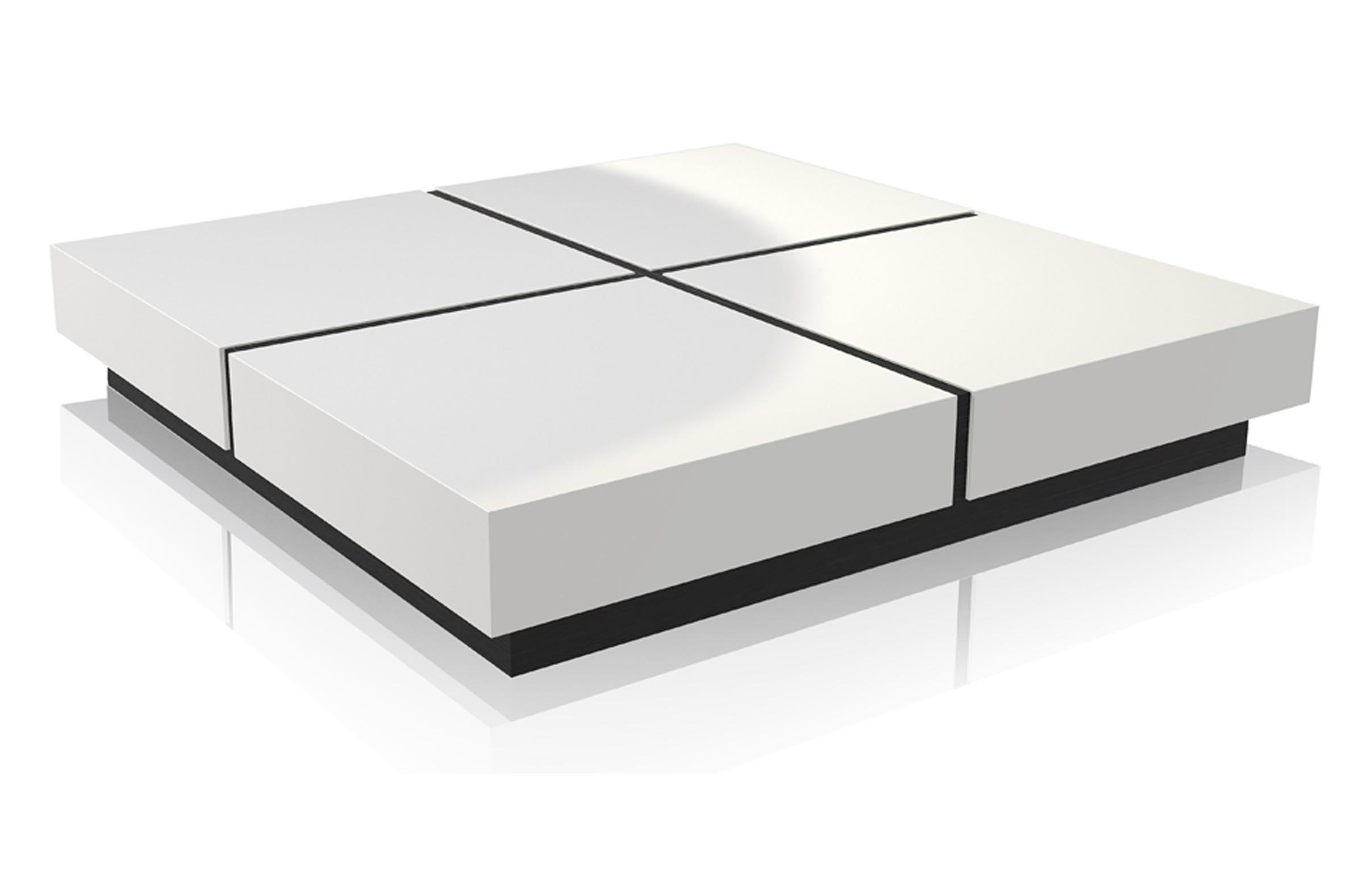 Modern white coffee table for Modern style coffee tables