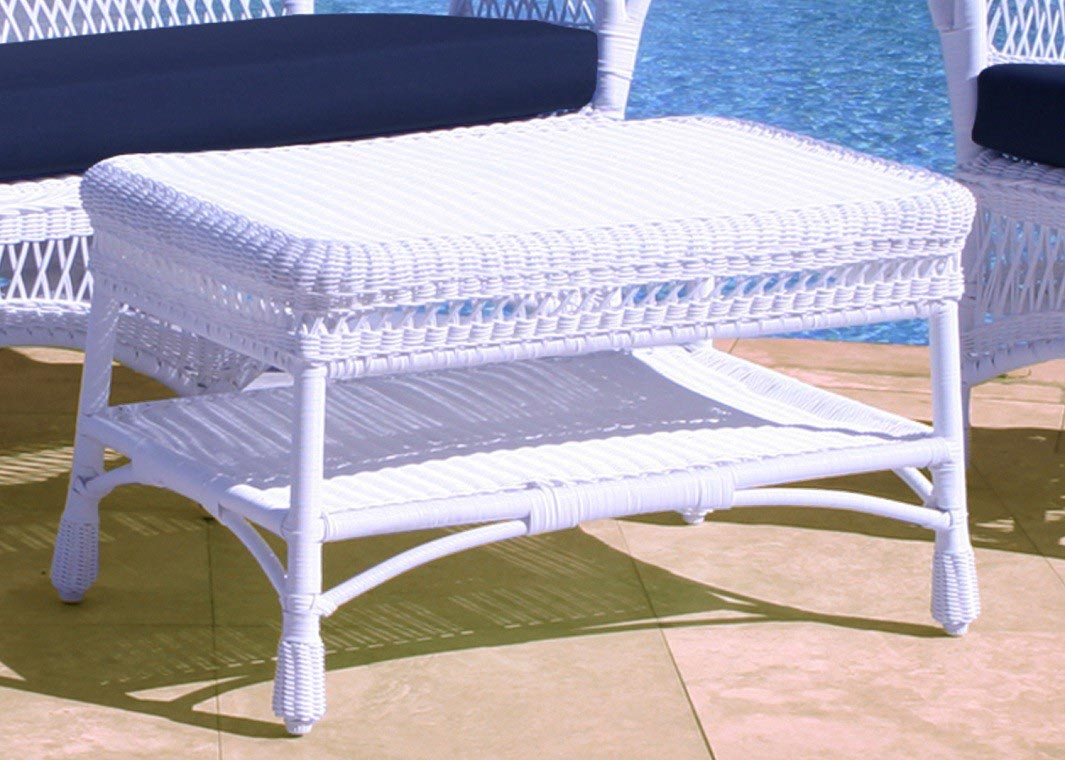 White wicker patio coffee table coffee table design ideas White wicker coffee table