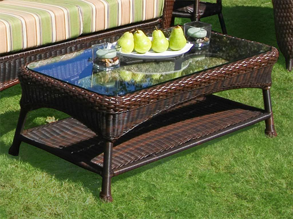 Wicker Patio Coffee Tables