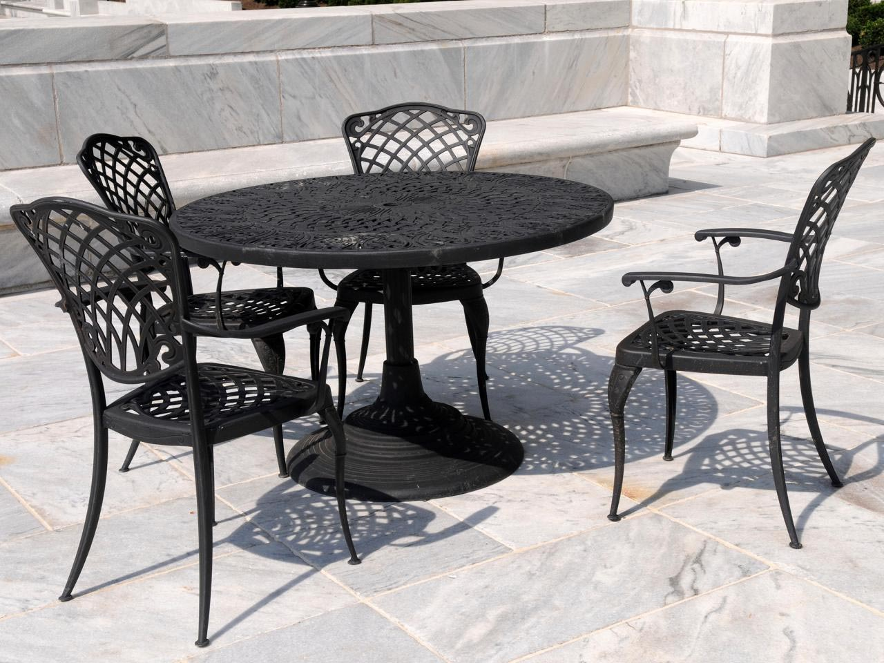 Wrought Iron Coffee Table Patio Furniture