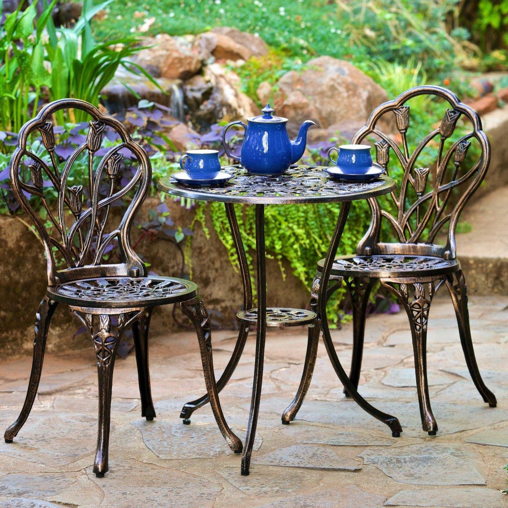 Wrought Iron Patio Furniture Coffee Table