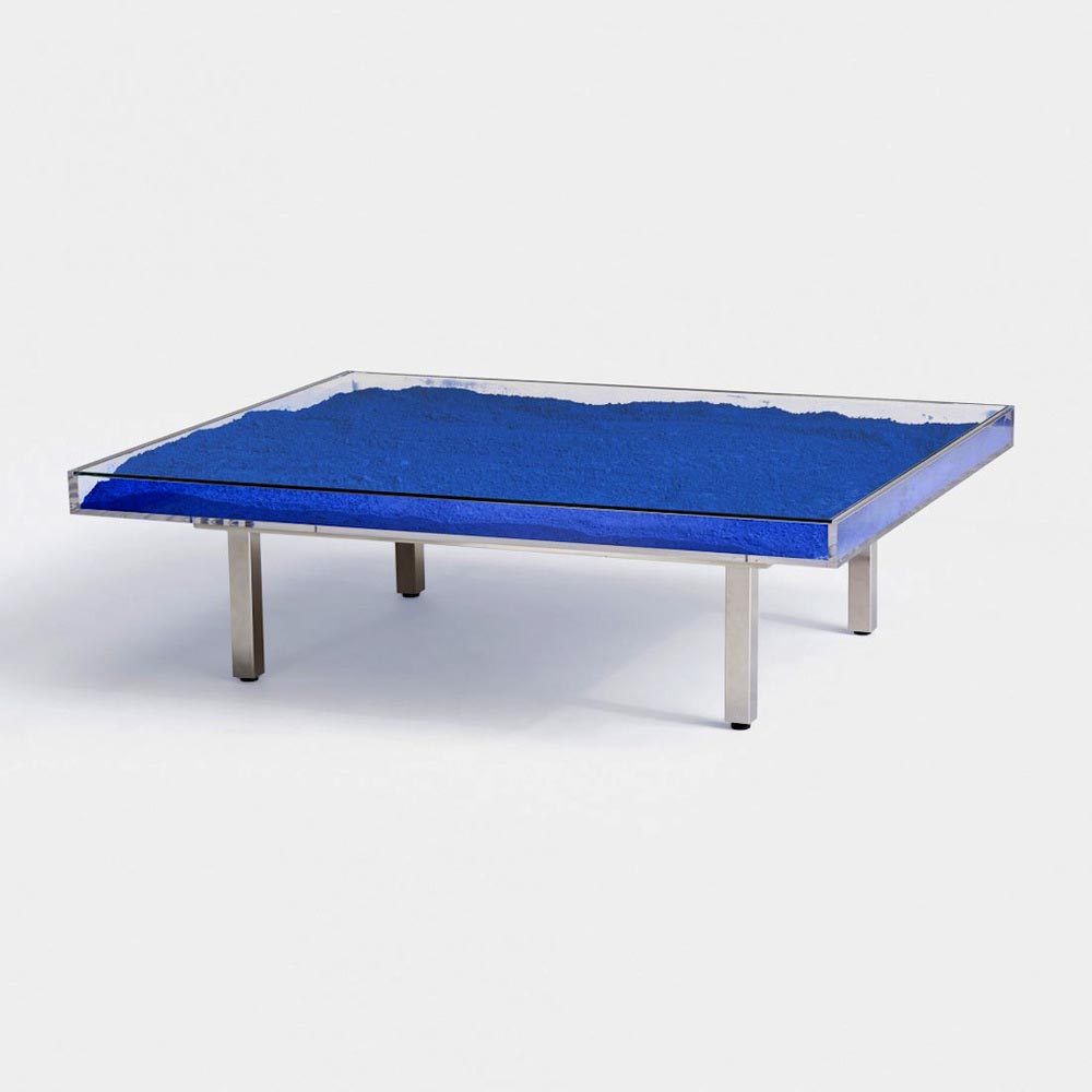 Yves klein blue coffee table coffee table design ideas for Table in table